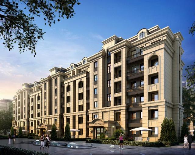 在售项目  项目特色:业态丰富 顶尖设计公司加盟 法式新古典主义建筑图片