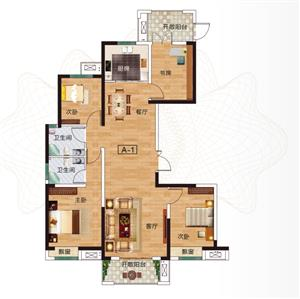 A-1户型 四室两厅两卫 约143.16㎡